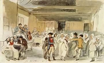Study for 'Penny Wedding', 1817, (1946). Creator: David Wilkie.