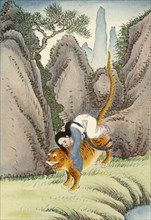 'The Tiger Carries Off Miao Shan', 1922. Creator: Unknown.