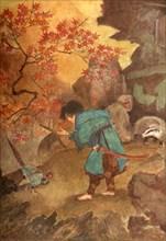 'Momotaro and the Pheasant', 1912. Creator: Evelyn Paul.