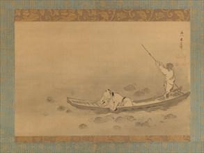 Zhou Maoshu Admiring Lotuses, mid-17th century. Creator: Kaiho Yusetsu.