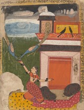 Madhumadhavai Ragini...from a Dispersed Ragamala Series (Garland of Musical Modes), c1640-50. Creator: Unknown.