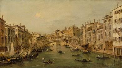 Venice: The Rialto. Creator: Workshop of Francesco Guardi (Italian, Venice 1712-1793 Venice).