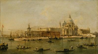 Venice: The Dogana and Santa Maria della Salute. Creator: Workshop of Francesco Guardi (Italian, Venice 1712-1793 Venice).