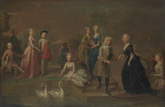 Uvedale Tomkyns Price (1685-1764) and Members of His Family, possibly early 1730s. Creator: Bartholomew Dandridge.