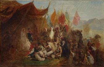 "Sketch for ""Reception of Emperor Napoleon III and Empress Eugénie..., 1860"", ca. 1862-67. Creator: Isidore Pils."