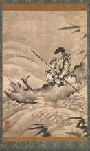 The Chinese Explorer Zhang Qian on a Raft, mid-16th century. Creator: Maejima Soyu.