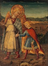 The Archangel Raphael and Tobias, early to mid-1460s. Creator: Workshop of Neri di Bicci (Italian, Florence 1419-1491 Florence).