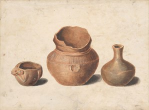 Indian Antiquities (Copy after Engraving in American Medical and Philosophical Register, 1812).  Creator: Pavel Petrovic Svin'in.