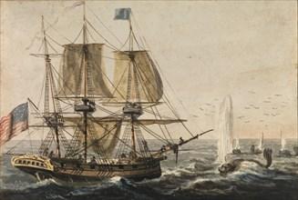 Replenishing the Ship's Larder with Codfish off the Newfoundland Coast, 1811-ca. 1813. Creator: Pavel Petrovic Svin'in.