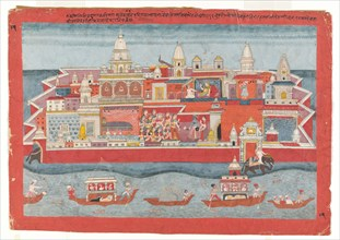 Folio from a Bhagavata Purana series, ca. 1775-1800. Creator: Unknown.
