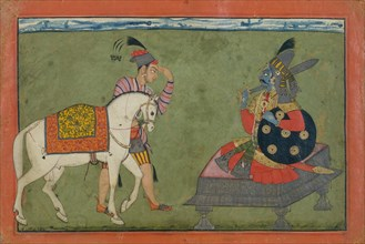 Kalki Avatar, the Future Incarnation of Vishnu, ca. 1700-1710. Creator: Unknown.