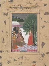 "Shri Rama Putra Raga: Page from the Dispersed ""Boston"" Ragamala Series..., ca. 1760. Creator: Unknown."