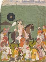 Maharana Jagat Singh II in Procession, ca. 1745. Creator: Unknown.