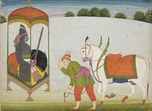 Kalki Avatar, the Future Incarnation of Vishnu: Page from a Dispersed Manuscript, ca. 1760-70. Creator: Unknown.