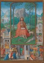 Manuscript Illumination with Scenes from the Life of Saint John the Baptist, ca. 1515. Creator: Gerard Horenbout.