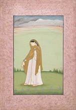 Abhisarika Nayika, a Heroine Longing for Her Lover, ca. 1790-1800. Creator: Unknown.