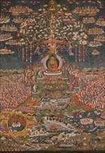 Amitabha, the Buddha of the Western Pure Land (Sukhavati), ca. 1700. Creator: Unknown.