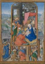 Manuscript Illumination with Adoration of the Magi, ca. 1515-25. Creator: Gerard Horenbout.