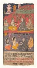 Shalibhadra Performing Austerities: Folio from a Shalibhadra Manuscript, ca. 1725. Creator: Unknown.