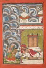 Andhrayaki Ragini: Folio from a ragamala series (Garland of Musical Modes) , ca. 1710. Creator: Unknown.