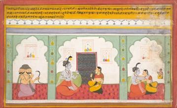 Page from a Dispersed Shiva Mahatmya (Great Tales of Shiva), ca. 1710. Creator: Unknown.
