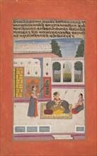 Bangali Ragini: Folio from a ragamala series (Garland of Musical Modes) , 1709. Creator: Unknown.
