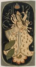 Mahadevi, the Great Goddess , ca. 1725. Creator: Unknown.