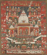 Worship of Lord Jagannatha in his temple at Puri, First half 18th century. Creator: Unknown.