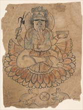 Seated Four-Armed Ganesha, ca. 1775. Creator: Unknown.