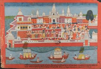 Page from a Dispersed Bhagavata Purana Manuscript (Life of Krishna), ca. 1775. Creator: Unknown.