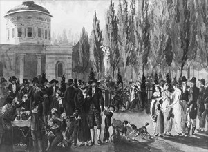 Fourth of July in Centre Square, Philadelphia, 1811-ca.1813. Creator: Pavel Petrovic Svin'in.