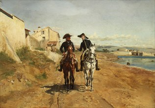 A General and His Aide-de-camp, 1869. Creator: Jean Louis Ernest Meissonier.