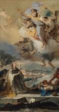 Saint Thecla Praying for the Plague-Stricken, 1758-59. Creator: Giovanni Battista Tiepolo.