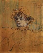 Mademoiselle Nys, 1899. Creator: Henri de Toulouse-Lautrec.