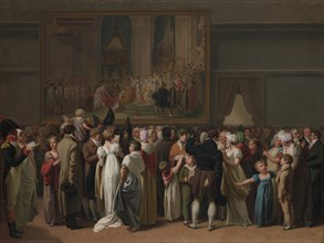 "The Public Viewing David?s ""Coronation"" at the Louvre, 1810. Creator: Louis Leopold Boilly."