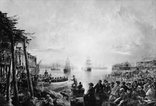 Landing at Newfoundland, ca. 1866. Creator: Robert Charles Dudley.