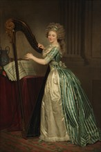 Self-Portrait with a Harp, 1791. Creator: Rose Adelaide Ducreux.