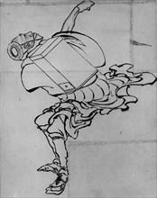 Fan Peddler, 18th-19th century. Creator: School of Katsushika Hokusai.