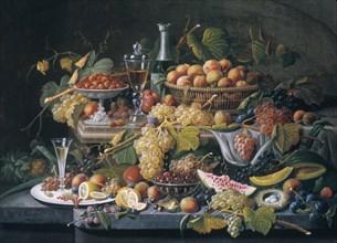 Still Life: Fruit, 1855. Creator: Severin Roesen.