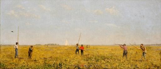 Pushing for Rail, 1874. Creator: Thomas Eakins.