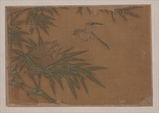 Seven Birds in Bamboo Tree Nest. Creator: Unknown.
