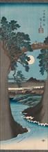 The Monkey Bridge in Kai Province (Koyo Saruhashi no zu), ca. 1841-42. Creator: Ando Hiroshige.