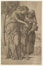 Judith and her maidservant with the head of Holofernes, 1500-1530. Creator: Girolamo Mocetto.