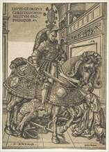 Saint George on Horseback, 1508/1518. Creator: Hans Burgkmair, the Elder.