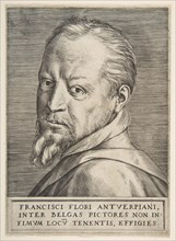 Bust portrait of Frans Floris, 1531-76. Creator: Giulio Bonasone.