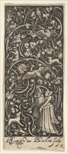Vertical Panel with a Man and Woman, ca. 1631. Creator: Bartolomeus van Lochom.