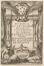 Frontispiece for 'Instructions for Chancellors'