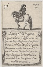 Louis 6.-e dit le gros / Sage, vaillant..., from 'Game of the Kings of France'