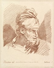 Head of a Man Wearing a Turban, mid to late 18th century. Creator: Hakman.