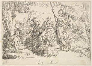 Gods and Goddesses in a Landscape, 1740-1802. Creator: Giuseppe Canale.
